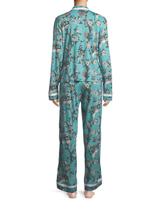 Image 2 of 3: Bella Printed Long-Sleeve PJ Set