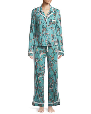 Image 1 of 3: Bella Printed Long-Sleeve PJ Set