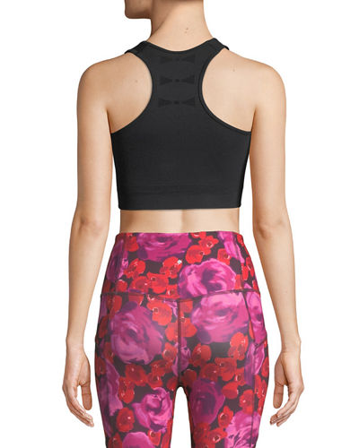 jacquard-bow performance sports bra