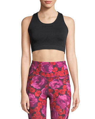 kate spade new york jacquard-bow performance sports bra