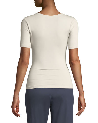 Pureness Short-Sleeve Jersey Top