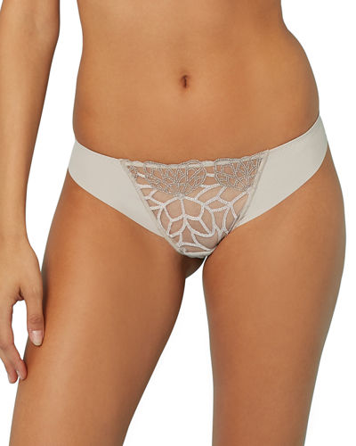 Java Suisse-Embroidered Thong