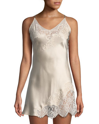 Christine Designs Beloved Lace-Side Silk Chemise