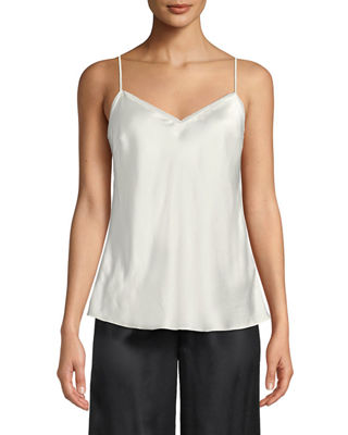 V-NECK SILK CAMISOLE from Neiman Marcus