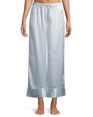 RELAXED SILK LOUNGE PANTS from Neiman Marcus