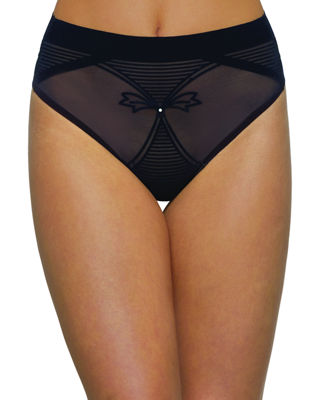NANCY GANZ Enchante Shaping High-Waist G-String in Black