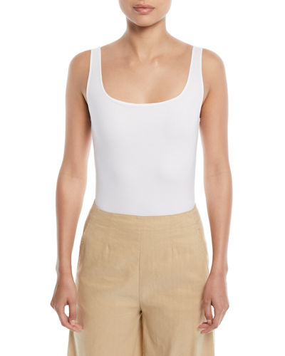 Square-Neck Sleeveless Bodysuit