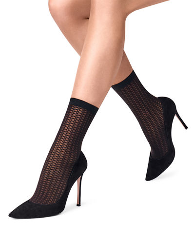 Octagonal Net Ankle Socks