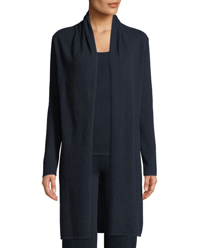 Cashmere Open-Front Duster Cardigan