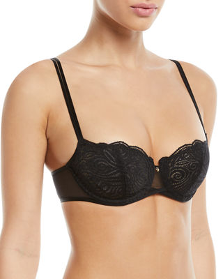 Chantelle Pyramide Unlined Lace Demi Bra and Matching