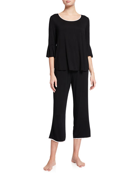 Image 1 of 2: kate spade new york scattered dots cropped pajama set