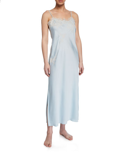 L'Amour Lace-Trim Long Nightgown
