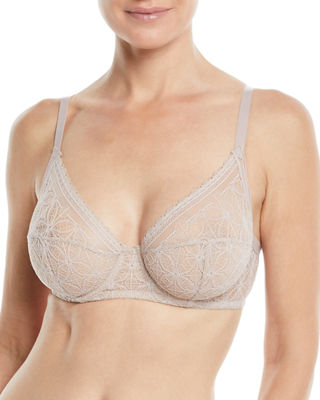 ELSE Chloe High-Apex Full-Cup Underwire Bra in Rose Quartz