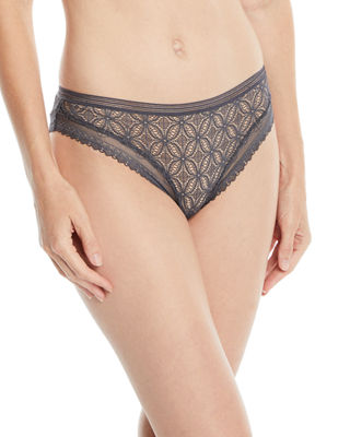 ELSE Chloe Lace Bikini Briefs in Charcoal