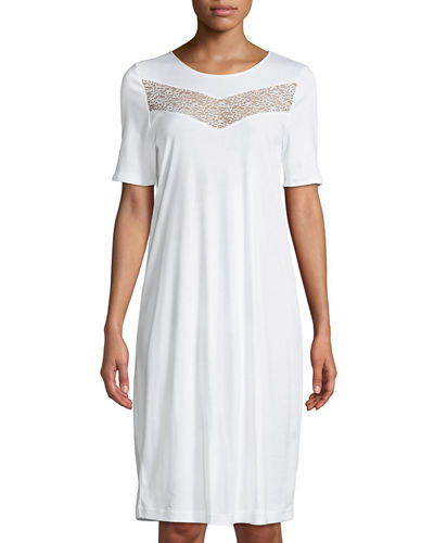 Liv Lace-Inset Short Nightgown