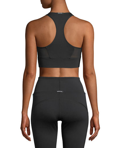 Inversion High-Neck Mesh Sports Bra