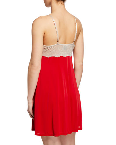 Natori Enchant Chemise with Lace Trim