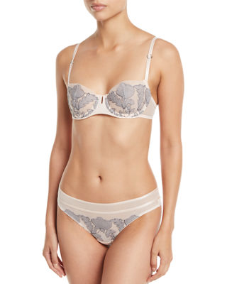 Chantelle Garnier Unlined Lace Demi Bra and Matching