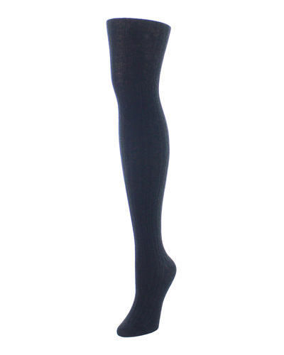 Cashmere-Blend Rib-Knit Sweater Tights