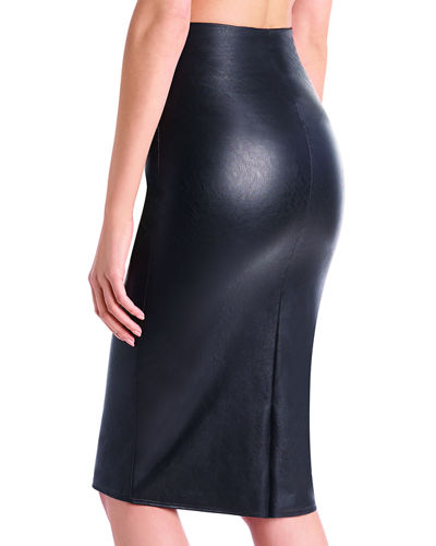 Commando Faux-Leather Midi Skirt