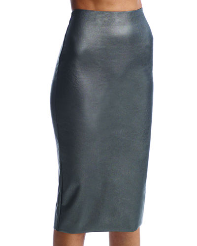 Faux Leather Skirt   Neiman Marcus