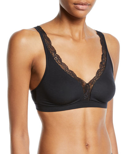 Cotton Lace Wire-Free Soft Cup Bra