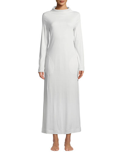 Liara Long-Sleeve Long Nightgown