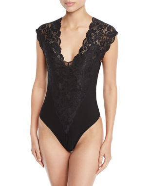 681391ebdfd64 HAH   We Are HAH Lady Like Mixed-Media Bodysuit