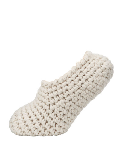 Wide-Knit Ankle Slipper Socks