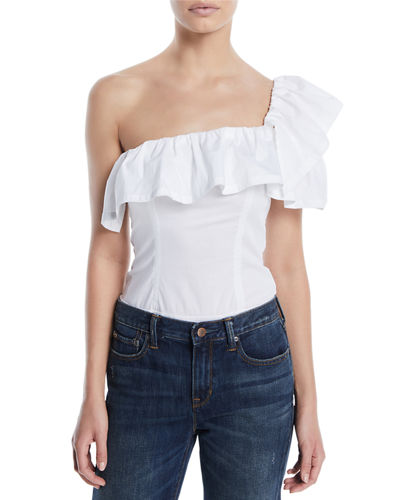 One-Shoulder Ruffle Bodysuit