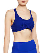 Alo Yoga Knot Scoop-Neck Tank Bra