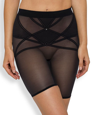 NANCY GANZ Sheer Decadence Shaping Shorts in Black