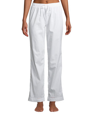 MAISON LEJABY Pyjama Ladder-Stitched Pants in White