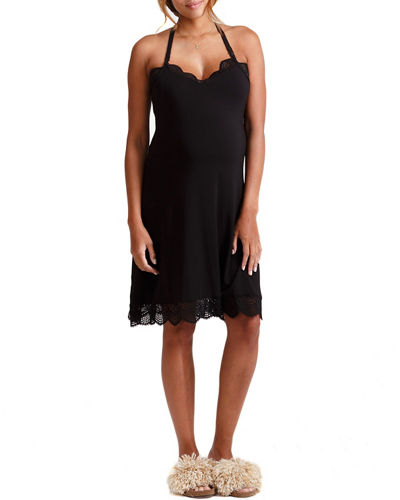 Maternity Lace Halter Chemise Nightie