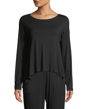 Natori Feathers Elements Long-Sleeve Lounge Top a66126a45