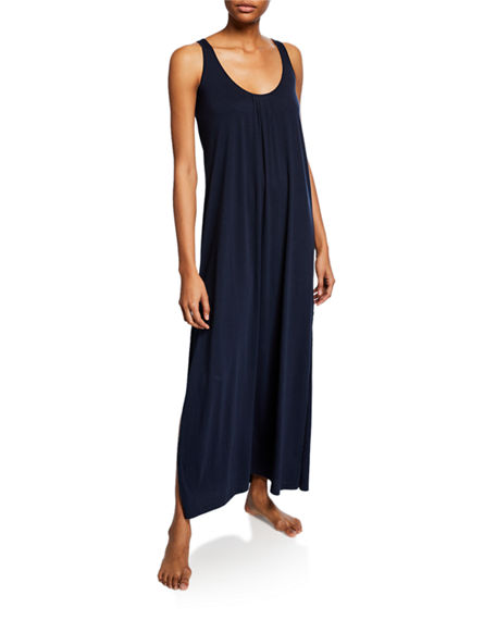Skin KAIA LONG JERSEY NIGHTGOWN