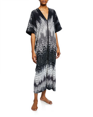 47d7be1623 Jasmine Floral-Lace Long Robe.  158 · Natori Cozumel Graphic-Print Square  Caftan