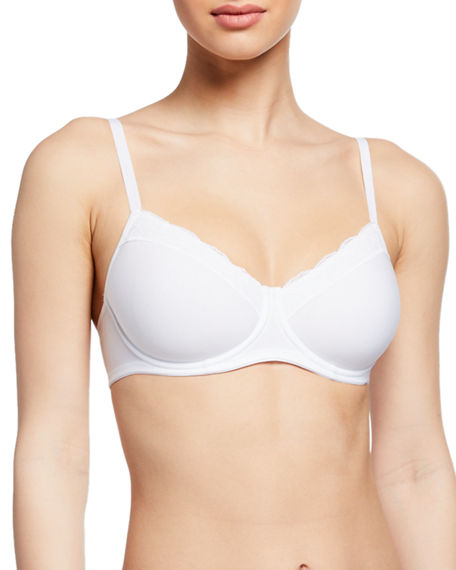 Hanro Cotton Lace Spacer T-Shirt Underwire Bra