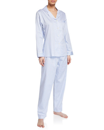San Isidro Pinstriped Pajama Set