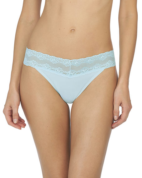 Natori Bliss Perfection Lace-Trimmed Thong (One Size)