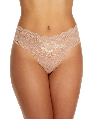 American Beauty Original-Rise Lace Thong