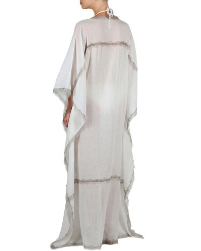 Flora Bella Sonder V-Neck Long Kaftan w/ Lace
