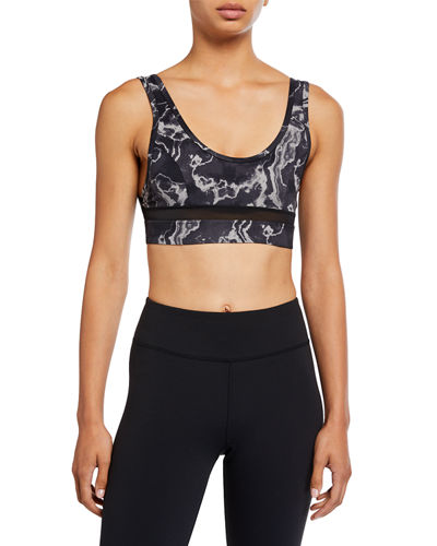 Varley Willow Printed Mesh Sports Bra
