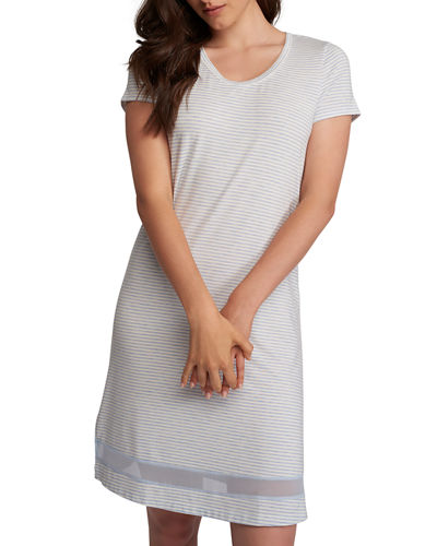 Gabriela Striped Sleepshirt