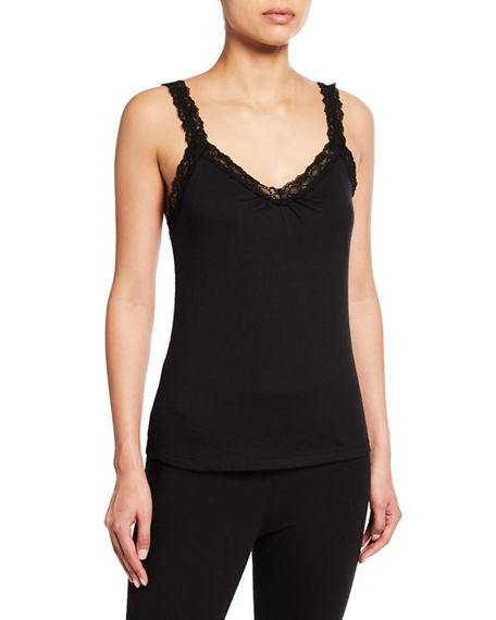 Lusome Ginger Lace-Trim Camisole