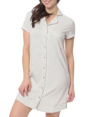 Marilyn Button-Front Nightshirt