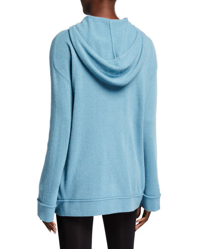 Neiman Marcus Cashmere Collection Cashmere Wide-Sleeve Hoodie