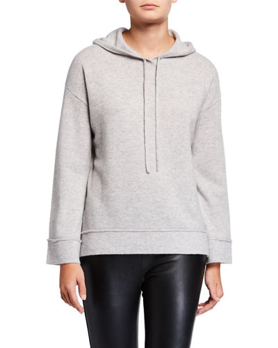 Cashmere Wide-Sleeve Hoodie