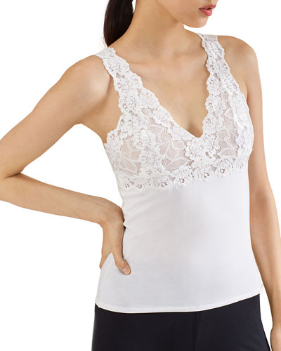 Rose Parfait Lace-Trim Camisole