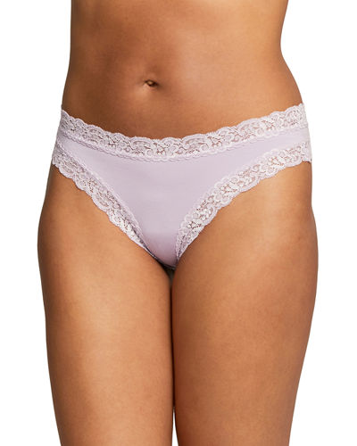 Iconic Lace-Trim Thong